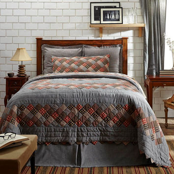Beacon Hill 4 Piece Bedding Set, King, Queen, Lux King, Quilt, Shams, Bedskirt