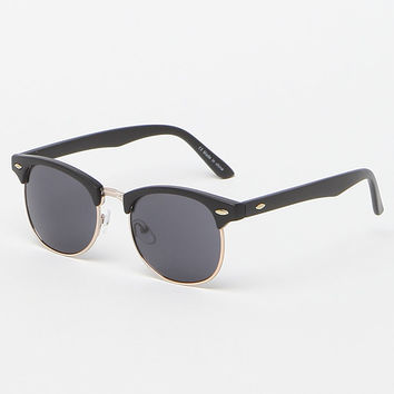 LA Hearts Matte Half Rim Sunglasses at PacSun.com