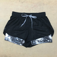 2016 Summer Exercise Fitness Fashion Shorts Breathable Elastic Waist Female Casual Yo-Ga Short Feminino Women Shorts