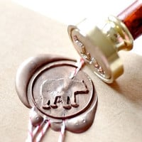 Grizzly Bear Gold Plated Wax Seal Stamp x 1