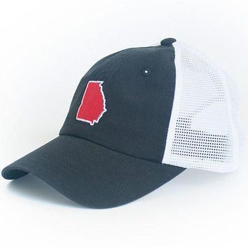 Georgia Athens Gameday Trucker Hat in Black by State Traditions