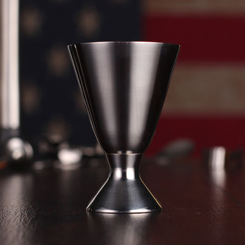 Measuring Cup Ounce Device Bartender Ounce Glasses Amount Is The Amount Built-Scale Wine Set Stainless Steel Ounce Shaker J486