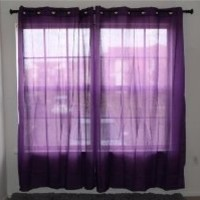 "1 Piece Purple Light-Weight Crushed Fabric Curtain Panel (60"" x 84"") with 8 Grommets"