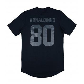 Ronaldinho 80 Legends Shirt Black on Black - BALR.