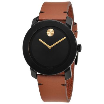Movado Bold Black TR90 Composite Material Mens Watch MV3600305