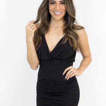 Black Back Strap Dress