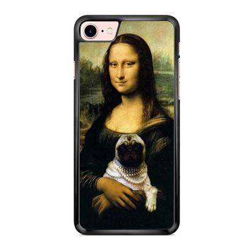Mona Lisa Pug iPhone 7 Case