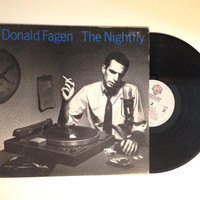 OCTOBER SALE Donald Fagen The Nightfly 1982 Vinyl Record Walk Between Raindrops Ruby Baby LP Album