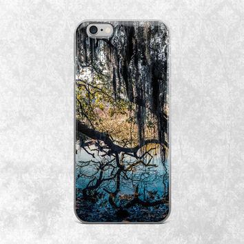 Nature iPhone 6 Case, Tree iPhone Cover, Georgia Swamp Phone Case, iPhone 6 Plus, Gothic Phone Case, Branches, iPhone 6S Cover, Spanish Moss