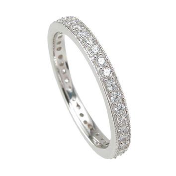 925 Sterling Silver Wedding Band 1 Carat Weight- Size 5