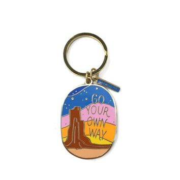 Go Your Own  Way Keychain