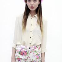 Marble House Floral Shorts