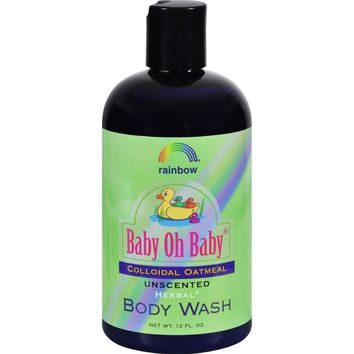 Unscented Baby Oh Baby Organic Herbal Wash Colloidal Oatmeal ( 2 - 12 FZ)