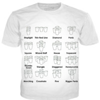 want to play beer pong with lots of formations, this is the shirt for you