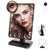 LED light-emitting mirror 20 bright LED mirror 180 degree rotating mirror adjustable brightness make-up mirror A5