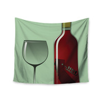 "Thomas Fuchs ""California Wine"" Green Red Wall Tapestry"