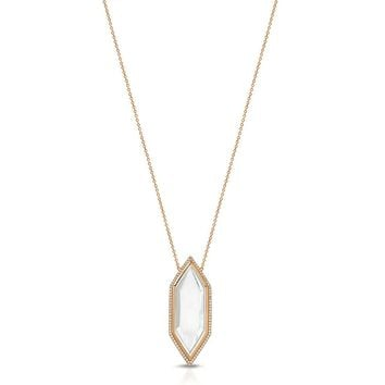 Harlow Rose Gold - Magnifier Pendant Necklace