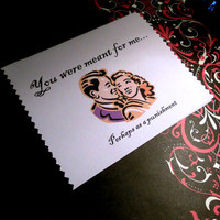 Funny Valentine, Love Card, You were meant for me, perhaps as punishment, Valentine, anniversary, gift, boyfriend
