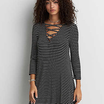 AEO Soft & Sexy Ribbed Dress, Black