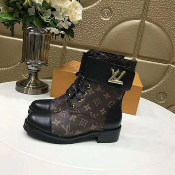 LOUIS VUITTON Women Fashion Dr Martens Shoes