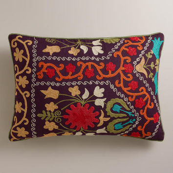 Purple Suzani Lumbar Pillow | World Market