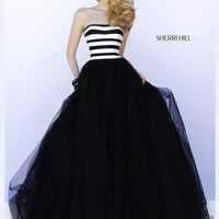 Black Skirt Sherri Hill Prom Ballgown 32174