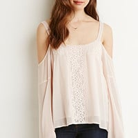 Lace-Trimmed Off-The-Shoulder Top