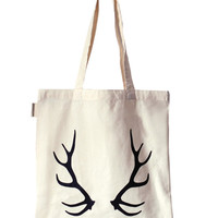 Black Antler Tote Bag
