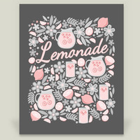 Lemonade Art Print by robyriker on BoomBoomPrints