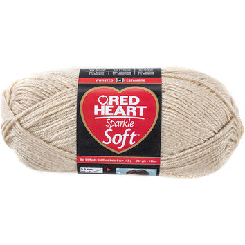 Red Heart Sparkle Soft Yarn-Sand