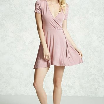Surplice Tie-Waist Dress