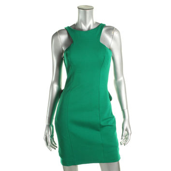 Xscape Womens Ruffled Sleeveless Cocktail Dress