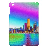 Chicago Skyline in Colored Foil