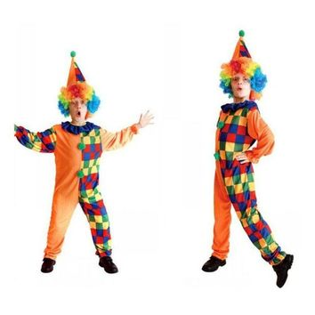 DCCKH6B Kids Clown Costumes Clown Cosplay Costume For Boy Halloween Costume for Kids Play Children Cosplay Costumes 4 to 10 Years Old