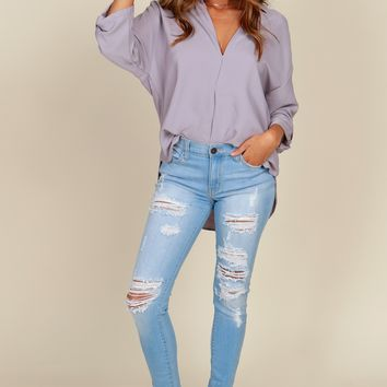 Rippin' Out Distressed Skinny Light Wash