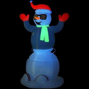 SheilaShrubs.com: Animated Inflatable Neon Snowman 87565 by Gemmy Industries: Christmas Outdoor Decor