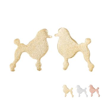 10Pairs/lot Cute Baby Dog Poodle Earrings