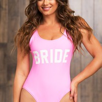 Bride One Piece Swimsuit - Pink