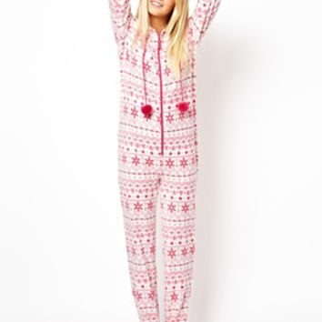 New Look Fairisle Fleece Onesuit