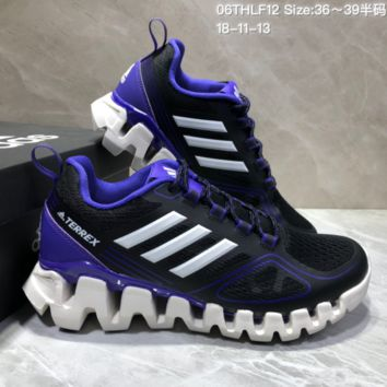 AUGUA A486 Adidas Terrex High Frequency Breathable TPU Vamp Running Shoes Black Purple