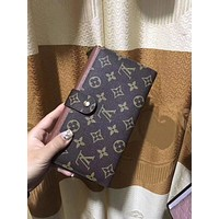 Tagre™ LV Louis Vuitton Women Leather Shopping Fashion Wallet Purse