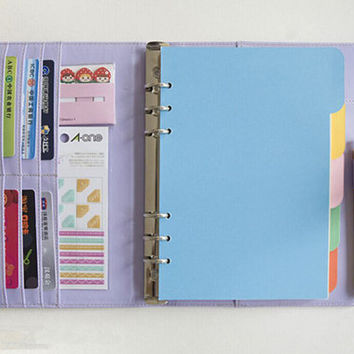 Macaroon Hot pink Journal Planner Refillable planner/ by Dokipaper