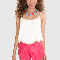 Young + Lovely Bow Shorts - Coral