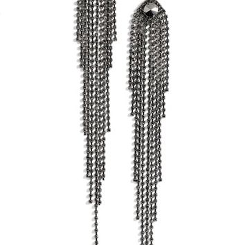 Natasha Couture Drama Crystal Shoulder Duster Earrings | Nordstrom