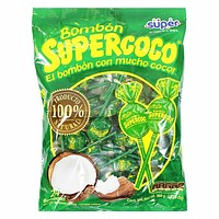 Super Bombon Supercoco Coconut Lollipops 13.5 oz. (384g)