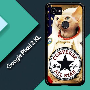 Astronaut Cat Converse W3097 Google Pixel 2 XL Custom Case