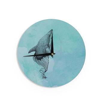 "Graham Curran ""Shark Record III"" Wall Clock"