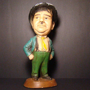 Esco Chalkware Statue Oliver Hardy of LAUREL AND HARDY - 1971