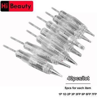 40pcs/lot Disposable Screw Tattoo Needle Cartridge For New Charmant Permanent Tattoo Machine With 1P 1D 2P 3P 3FP 5P 5FP 7FP
