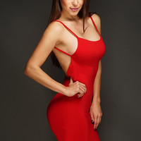 Raquel Backless Dress - Red